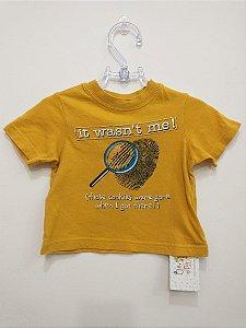 Camiseta manga curta amarela - The Children Place 6-9 meses