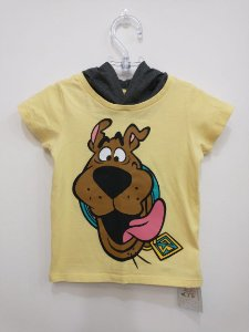 Camiseta Scooby Doo c/ capuz - Warner 12 meses