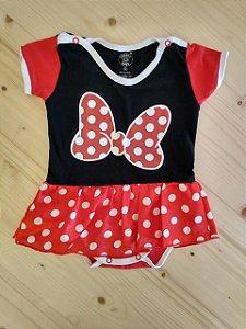 Body vestido fantasia Minnie - Looney Baby 6 meses