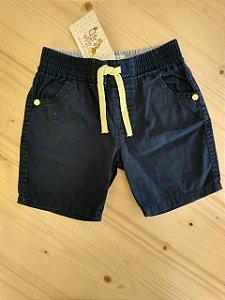 Shorts azul marinho - Baby Club 12-18 meses