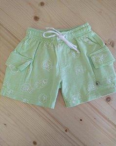 Shorts verde estampa sapo - Chicletaria 12 meses