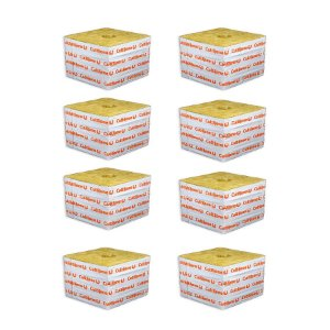 CULTILENE STONE WOOL GROWING BLOCK 15x15x9cm - Kit com 8