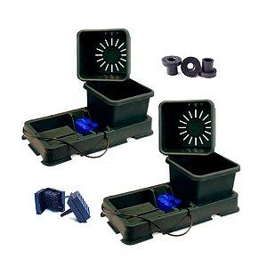 Kit Hidroponia Autopot 2 Easy2grow 15L, borracha seladora 6mm e filtro