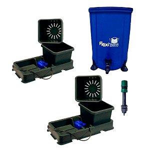 Kit Hidroponia Autopot 2 Easy2grow 15L, flexi tank 50L e filtro adaptador
