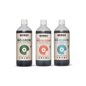 Kit Indoor Biogrow, Biobloom e Bioheaven 3x1L - BioBizz