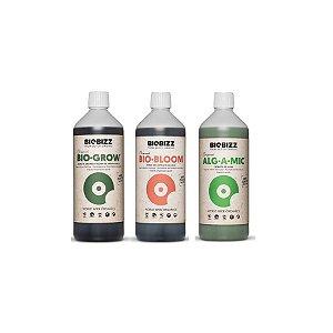 Kit Biogrow, Biobloom e Alg-a-mic 1L - Biobizz