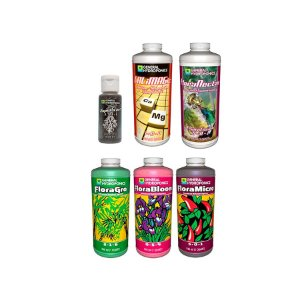 Kit Floraseries Essenciais + Sabor - 1x30ml e 5x946ml - General Hydroponics