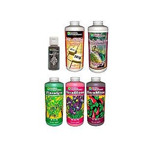 Kit Floraseries Essenciais + Sabor - 1x30ml e 5x946ml - General Hydroponics