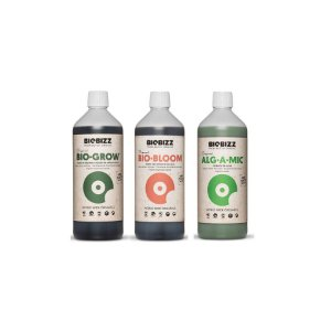 Pack Básico Orgânico - BioGrow, Biobloom e Alg-a-mic 3x250ml - Biobizz