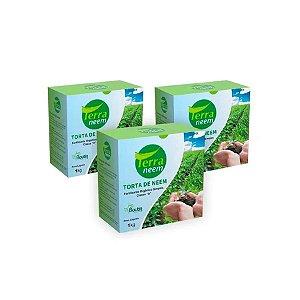 Torta de Neem - Terra Neem 1Kg - Kit com 3