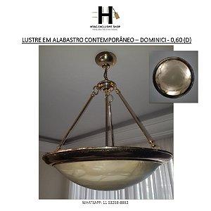 LUSTRE EM ALABASTRO CONTEMPORÂNEO – DOMINICI - 0,60 (D)