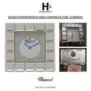 RELÓGIO DESPERTADOR DE MESA CHOPARD ICE CUBE  51/8898/01