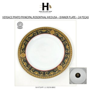 PRATO PRINCIPAL ROSENTHAL MEDUSA VERSACE – DINNER PLATE – 24 UNIDADES