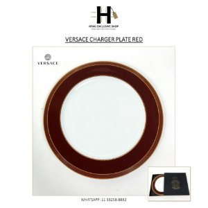 SOUSPLAT RED – VERSACE CHARGER PLATE RED – 12 PEÇAS