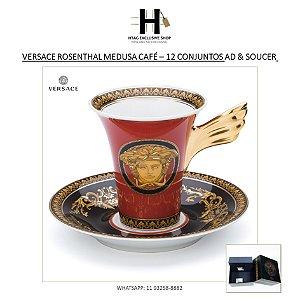 VERSACE ROSENTHAL MEDUSA CAFÉ – 12 CONJUNTOS AD & SOUCER (24 PEÇAS)