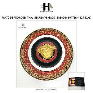 PRATO DE PÃO ROSENTHAL MEDUSA VERSACE - BREAD & BUTTER –18 CM (12 PEÇAS)