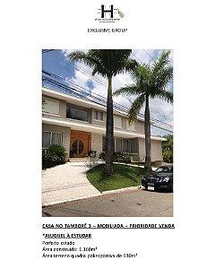 CASA NO TAMBORÉ 3 – MOBILIADA – PRIORIDADE VENDA / ALUGUEL À ESTUDAR