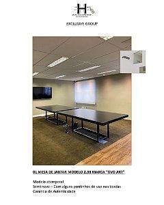 """MESA DE JANTAR OU ESCRITÓRIO MODELO 2.88 MARCA """"OVO ART"""""""