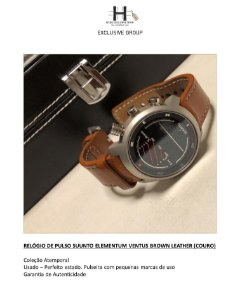 RELÓGIO DE PULSO SUUNTO ELEMENTUM VENTUS BROWN LEATHER