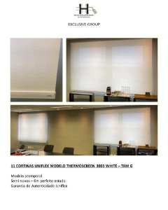 CORTINAS UNIFLEX MODELO THERMOSCREEN 3003 WHITE – TAM G - 11 CORTINAS