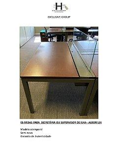 MESAS PARA SECRETÁRIA OU SUPERVISOR DE ILHA– ALBERFLEX - 5 MESAS