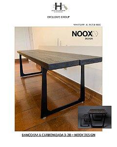 BANCO EM MADEIRA CARBONIZADA 3-2B – NOOX DESIGN