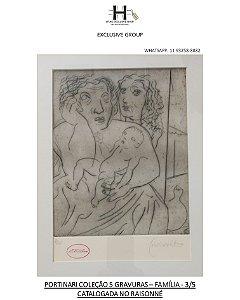 """PORTINARI - GRAVURA """"FAMÍLIA"""" - 1943"""