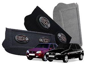 Tampão Bagagito Ford Fiesta Antigo 1996 a 2007 | Cinza Claro