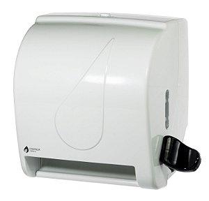 Dispenser Papel Toalha Bobina Alavanca Branco Fortcom