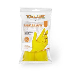 Luva Multiuso Latex Talge Amarela