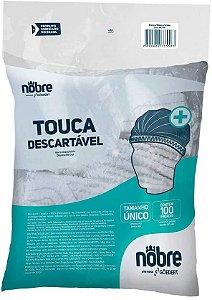 Touca TNT Descartável Sanfonada com Elástico Branca C/100