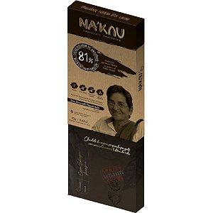 Chocolate Na'kau 81% Cacau -  80g.