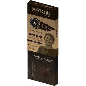 Chocolate Na'kau 54% Cacau Ao Leite De Coco - 80g