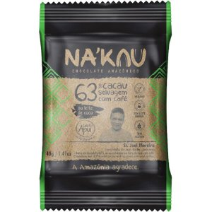 Chocolate Na'kau 63% Cacau com Café Apuí 40g.