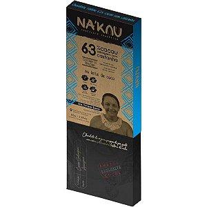 Chocolate Na'kau 63% Cacau Castanha Da Amazônia 80g.
