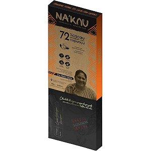Chocolate Na'kau 72% Cacau com Cupuaçu 80g.