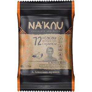 Chocolate Na'kau 72% Cacau com Cupuaçu 40g.