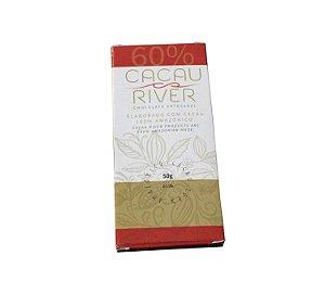 Chocolate Amazônico Vegano 60% Cacau Cacau River 50g