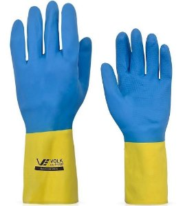 Luva Látex/Neoprene (amarela/azul) CA17.779