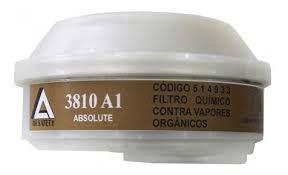 Cartucho/Filtro VO (Vapores Orgânicos) para Máscara facial Inteira