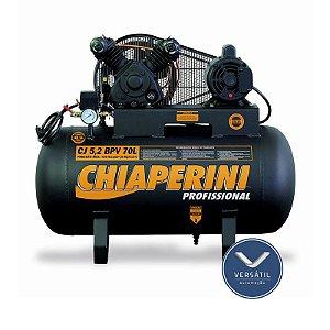 Compressor Ar 5.2BPV RCH 70L S/R C/MM 1HP 110/220V IP21 120 Libras - Chiaperini