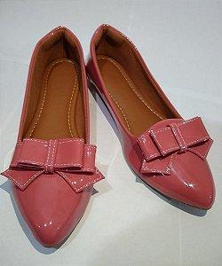 Sapatilhas Modamor Em Verniz Rosa Super Confortável
