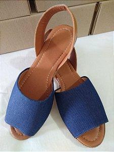 Sandália em Jeans  super confortável lindas para seus pés.