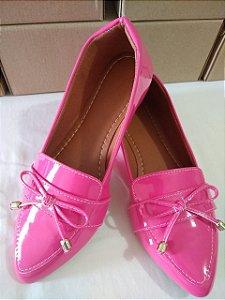 Sapatilhas Modamor em Verniz Rosa vivo Super fashion e  Confortável