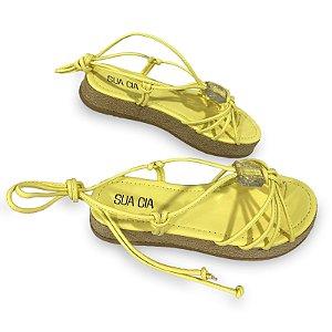 Sandalia Sua Cia Anabela Solar Amarelo