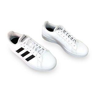 Tenis Casual Adidas Grand Court Base Branco e Preto