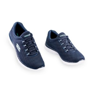 Tênis Esportivo Feminino Skechers Azul Marinho