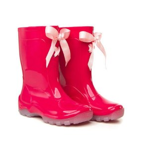 Galocha Infantil Pink com Fita Rosa Claro - Kidsplash