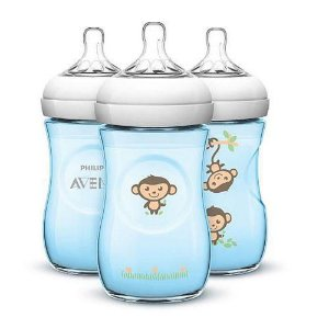 Kit 3 Mamadeiras Pétala Macaco 260ml - Philips Avent