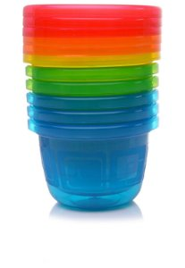 6 Potes Infantis Pequenos Azul 133ml - Take & Toss